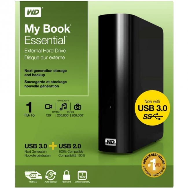 Comprar WD My Book Essential WDBACW0010HBK - Disco duro - 1 TB