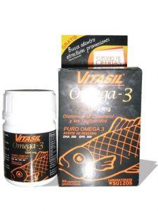 Comprar Vitasil Omega 3 Aceite Concentrado de Pescado 1,000 mg Omega – 3 ( EPA / DHA ) 500 mg EPA 300 mg DHA 200 mg