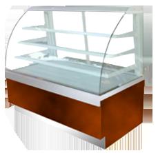 Comprar Vitrina Vidrio Curvo De Lujo Modelo: VCR-840