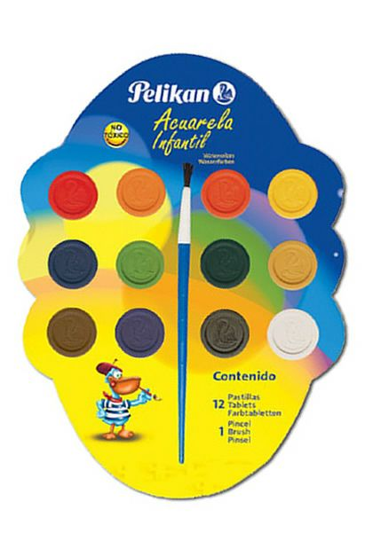 Comprar Acuarela Pelikan Infantil 12 Pastillas 3