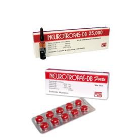 Comprar Vitamínicos Neurotropas – DB 25,000 Inyectable y Neurotropas – DB Forte grageas