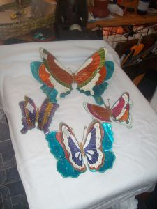 Mariposas de repujado