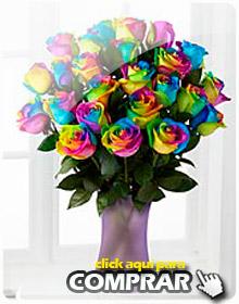 Comprar Arreglos de rosas multicolor