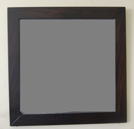 Comprar Espejo cuadrado con marco de caoba