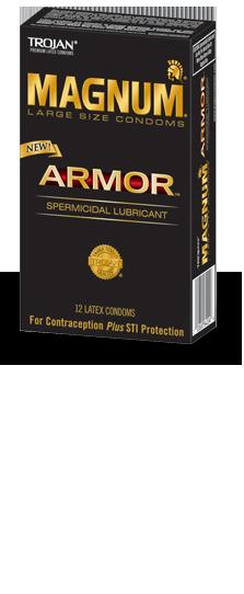 Comprar Magnum® Armor™ Spermicidal Lubricant Condoms