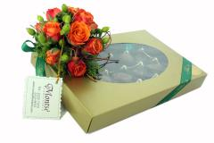 Caja de 24 Chocolates y Bouquet