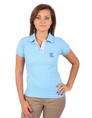 Camisa Tipo Polo - Mangas Celeste