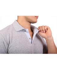 Camisa Tipo Polo - Mangas Gris