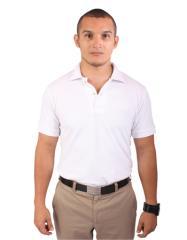 Camisa Tipo Polo - Mangas Blanco Hombre