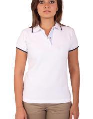 Camisa Tipo Polo - Mangas Ribete Color