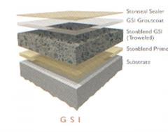 Sistema de piso antideslizante Stonblend