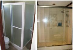 Puertas de Baño (Aluminio y PVC)