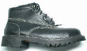 Botas de cuero granulado negro Berrendo 153