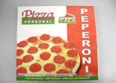 Pizza Personal De Peperoni De La Casa
