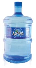 Agua envasada de fuente natural. Envase retornable