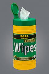 894 Boss Biggies Biodegradable Wipes