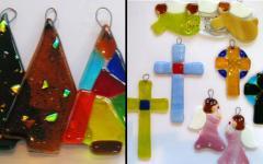 Productos artesanales de vidrio para honrar