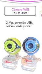 Camara Web 2.0mp USB blue e-touch