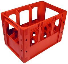 Boxes, lattice, for bottles, plastic