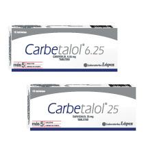 Carbetalol Carvedilol 6.25 mg y Carvedilol 25 mg