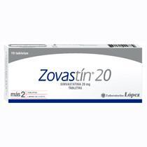 Zovastín 20 Simvastatina 20 mg Sistema