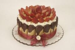 """Torta de fresas y galleta """"Delicia de"""