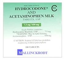 Hidrocodona+ Acetaminofen Mlk 7.5/650mg/Tab