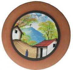 Painted souvenir plates