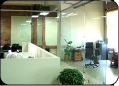 Divisiones de Oficina de Vidrio Templado