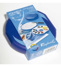 Set Acuarelas Raphael 12 colores + paleta plastico