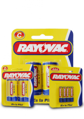Pilas Zinc Carbón de Rayovac