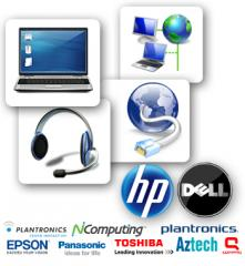 Hardware marcas Dell, HP