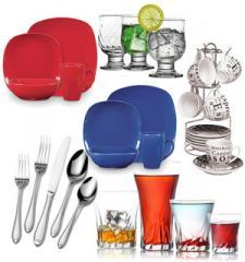 Vajillas, vasos y copas