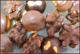 Nueces cubiertas con chocolate