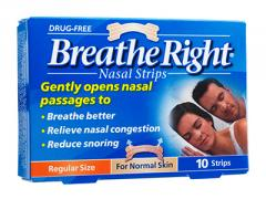 Snore relief products Breathe Right