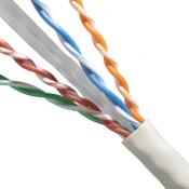Cable UTP 4 pares Categoria 6 color gris