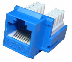 Conector Hembra RJ45 Cat5E Azul Punchable