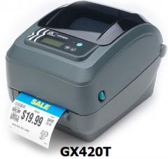 Impresor para código de barras Zebra GX420T