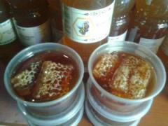 Panela de colmena con miel de abeja