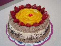 Pastel Choco fruta