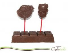 Paletas de chocolate