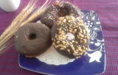 """Donas"" cubiertas con chocolate"