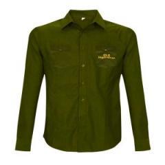 Camisa verde manga larga