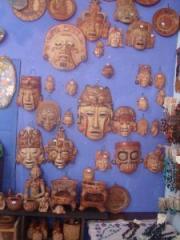 Mascaras de ceramica precolombina