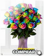 Arreglos de rosas multicolor