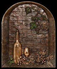 Murales Tridimensionales/ Ventana con botella de vino