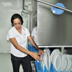 Detergents for dishwashing machines