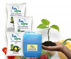 Fertilizantes hidrosolubles, materias feed, pesticidas y productos intermedios