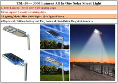 Lampara 100% solar