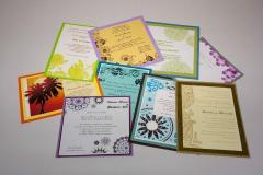 Tarjetas con diseños personalizados y aplia gama de colores